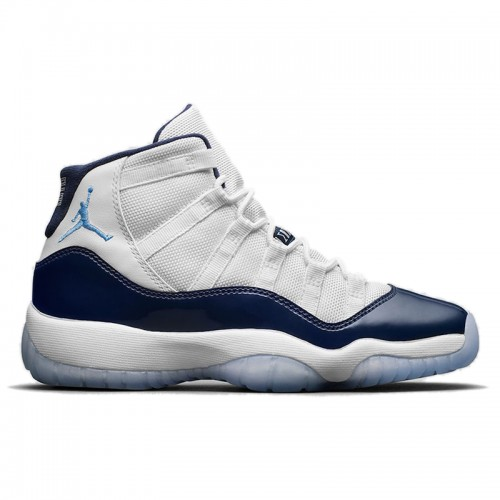 "Women's Air Jordan 11 ""Win Like 82"" White/University Blue-Midnight Navy 378037-123"