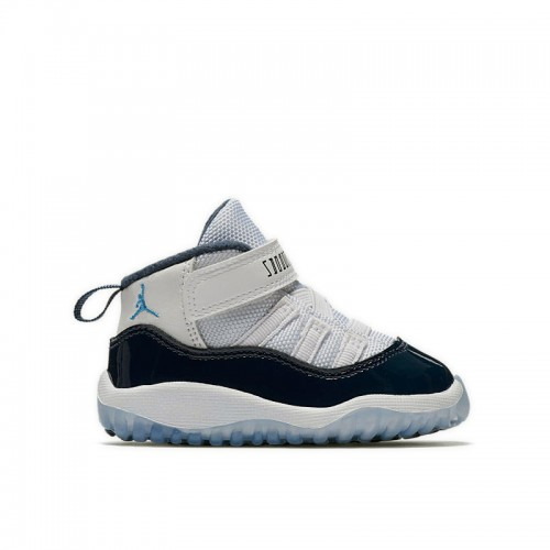 "Toddlers' Air Jordan 11 ""Win Like 82"" White/University Blue-Midnight Navy 378040-123"