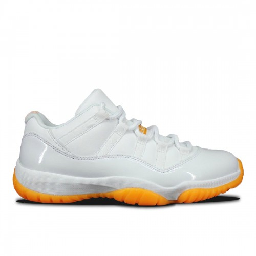 Authentic 580521-139 Air Jordan 11 Retro Low Girls White/White-Citrus