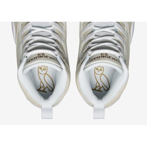 new product 6d3b2 157b8 ... 819955-100 Air Jordan 10 Retro OVO Summit White Metallic Gold-White ...
