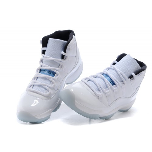 Authentic 378037-117 Air Jordan 11 Retro White/Black-Legend Blue Women's Shoe