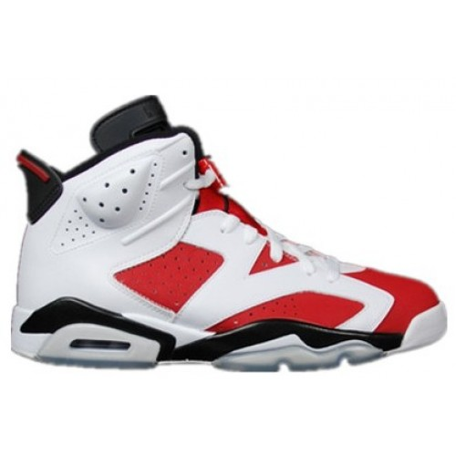 Authentic 384664-160 Air Jordan 6 Retro White/Carmine-Black Grade School's Shoe