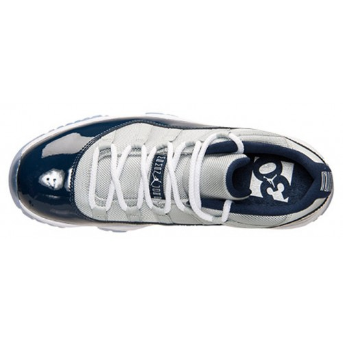 Authentic 528895-007 Air Jordan 11 Retro Low Grey Mist/White-Midnight Navy (Men Women GS Girls)
