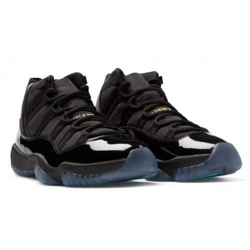 Air Jordan 11 Retro 378037-006 Black/Gamma Blue-Black-Varsity Maize Preschool's Shoe