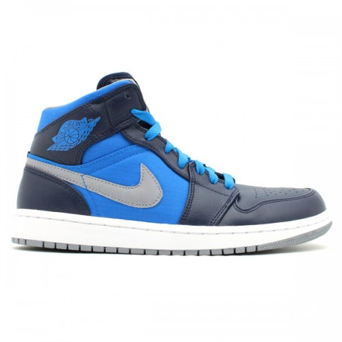 super popular 64868 a0761 364770-405 Air Jordan 1 Retro Phat Obsidian Stealth phosphate blue-white