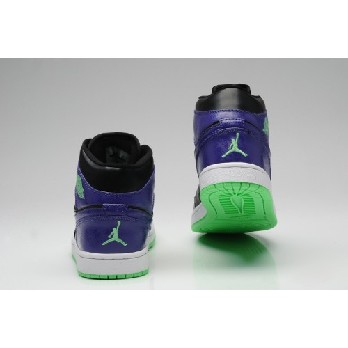 Air Jordan 1 Retro Joker All-Star Black Green Purple (Men Women GS Girls)