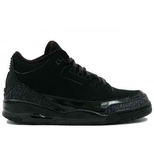 136064-002 Air Jordan Retro 3 Black Cat Black Dark Charcoal A03001
