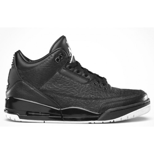 315767-001 Air Jordan Retro 3 Black Flip Black Metallic Silver A03013