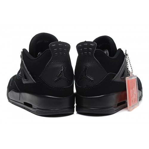 834fa79650a137 ... 408452-001 Air Jordan 4 Womens Black Cat Black Black Shoes ...