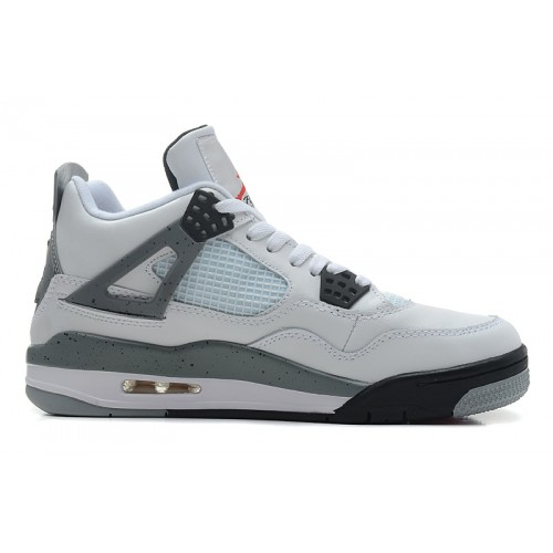 308497-103 Air Jordan Retro 4 Cement 2012 White Cement Grey Black A04006
