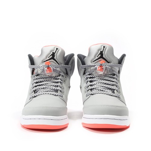d330393aea23 ... Authentic 440892-018 Air Jordan 5 Retro Girls Wolf Grey Black-Hot Lava  ...
