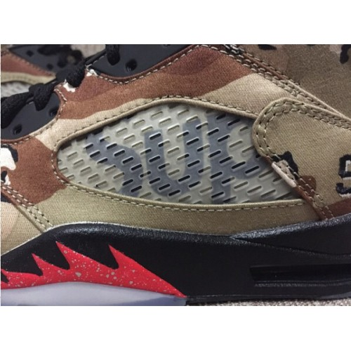check out 7ae1b 851d9 Authentic Air Jordan 5 Retro Desert Camo Fire Red-Black (Men Women) ...