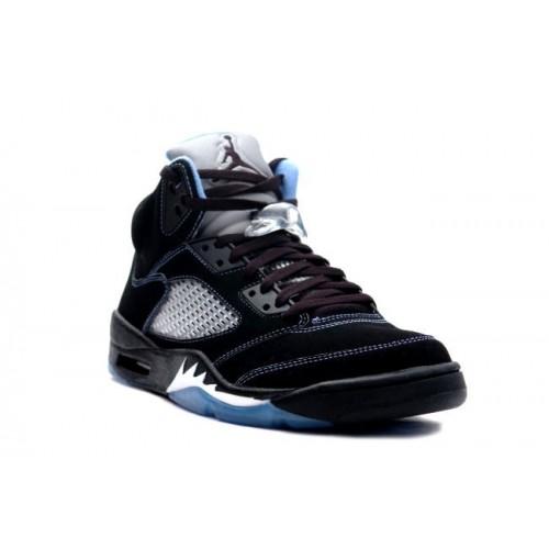 sports shoes e0dbb 21ff1 ... 314259-041 Air Jordan 5 (V) Retro LS Black University Blue White A05008  ...