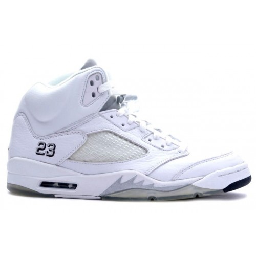 136045-101 Air Jordan 5 (V) Retro White Metallic Silver Black A05006