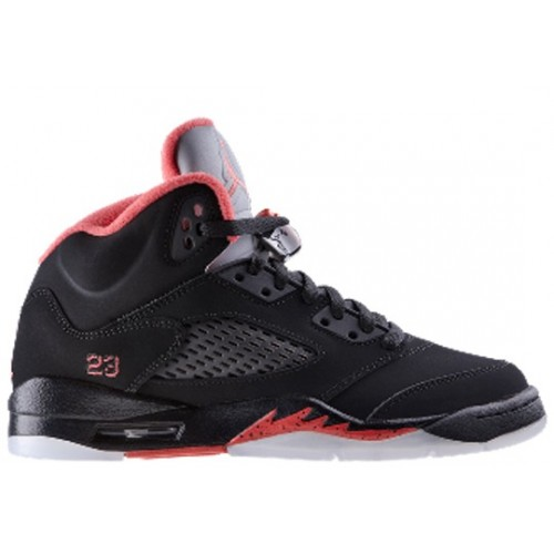 440893-001 Air Jordan 5 retro pre school black alarming A05010