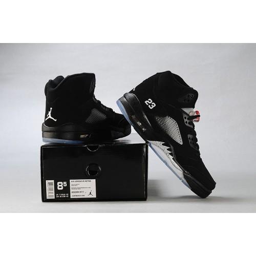 more photos 1127e d4e26 ... Air Jordan 5 Retro Black Metallic Silver (Women Men GS Girls) ...