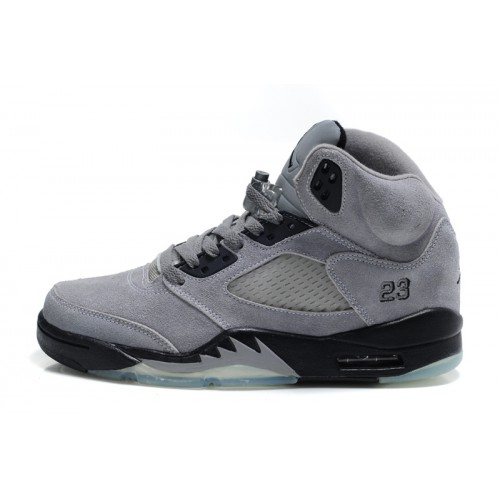 Air Jordan 5 Retro Womens Cool Grey Black Furry Shoes