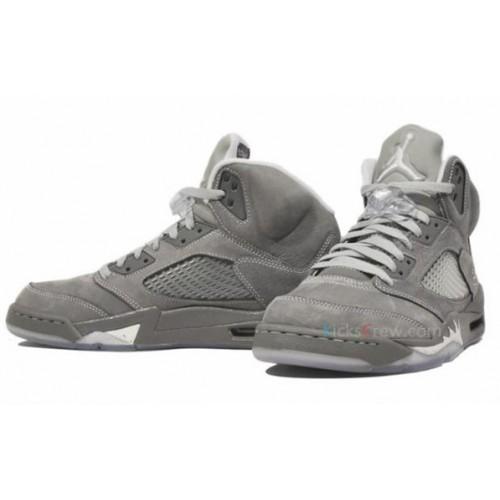 136027-005 Air Jordan Retro 5 (V) Wolf Grey Light Graphite White Wolf ... 92f4bb4c6