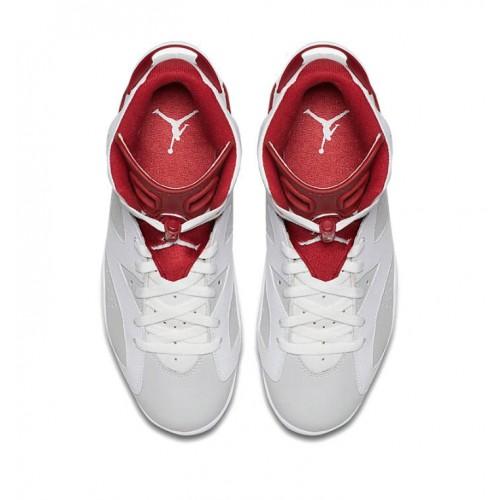 82237ae61f47bd ... 384664-113 Air Jordan 6 Retro White Pure Platinum-Gym Red (Alternate ...