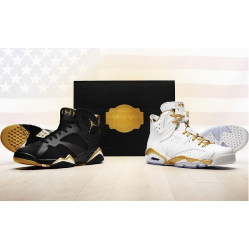 535357-935 Air Jordan 6 7 Gold Medal Pack 2012 A06017