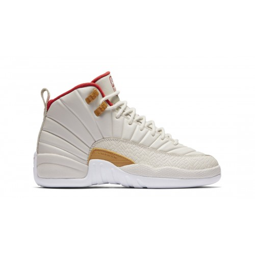 "Air Jordan 12 Retro GG ""Chinese New Year"" Light Orewood Brown/Varsity Red (881428-142)"