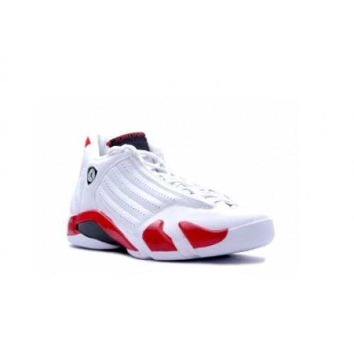 00815b6bffc 487471-101 Air Jordan Retro 14 Candy Cane White Black Varsity Red 2012  A14006 ...