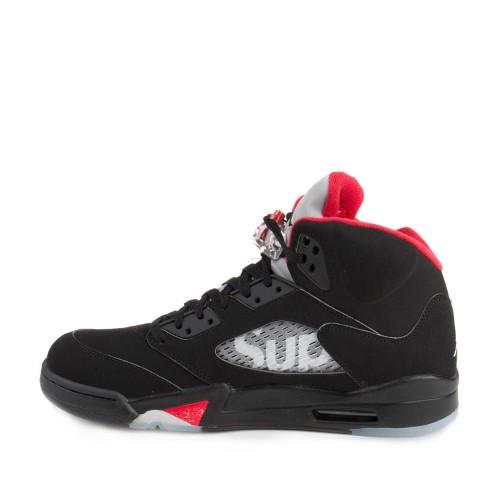 info for 6be6e 1474e Authentic 824371-001 Air Jordan 5 Retro Supreme Black Fire Red (Men Women)  ...