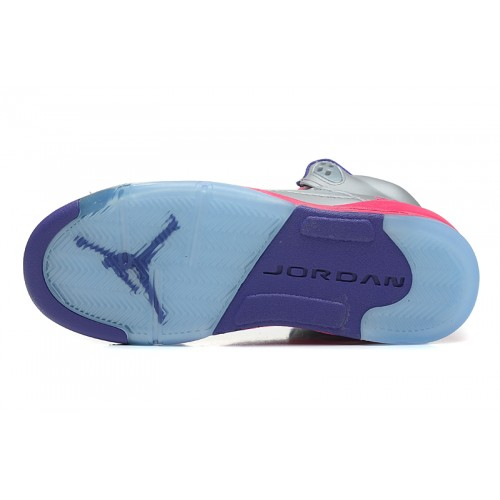 337b2f95065b ... 440892-009 Air Jordan 5 Retro Cement Grey Pink Flash-Raspberry Red- Electric ...