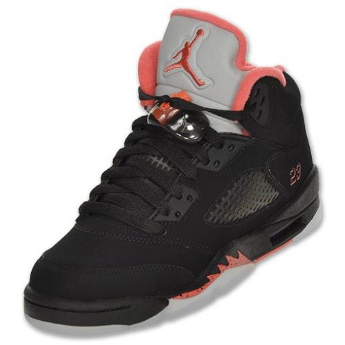 206f036e1fa ... 440892-001 Air Jordan 5 retro (gs) girls black alarming A24033 ...