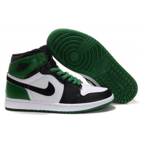 332558-101 Air Jordan 1 high retro (gs) boston celtics white black varsity green A24018