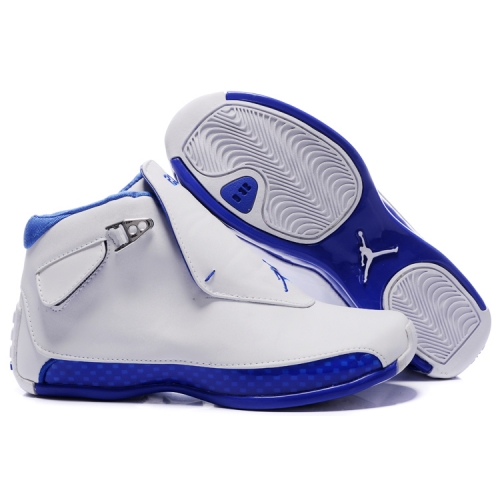 305869-107 Air Jordan 18 Original OG White Women Sport Royal A24003